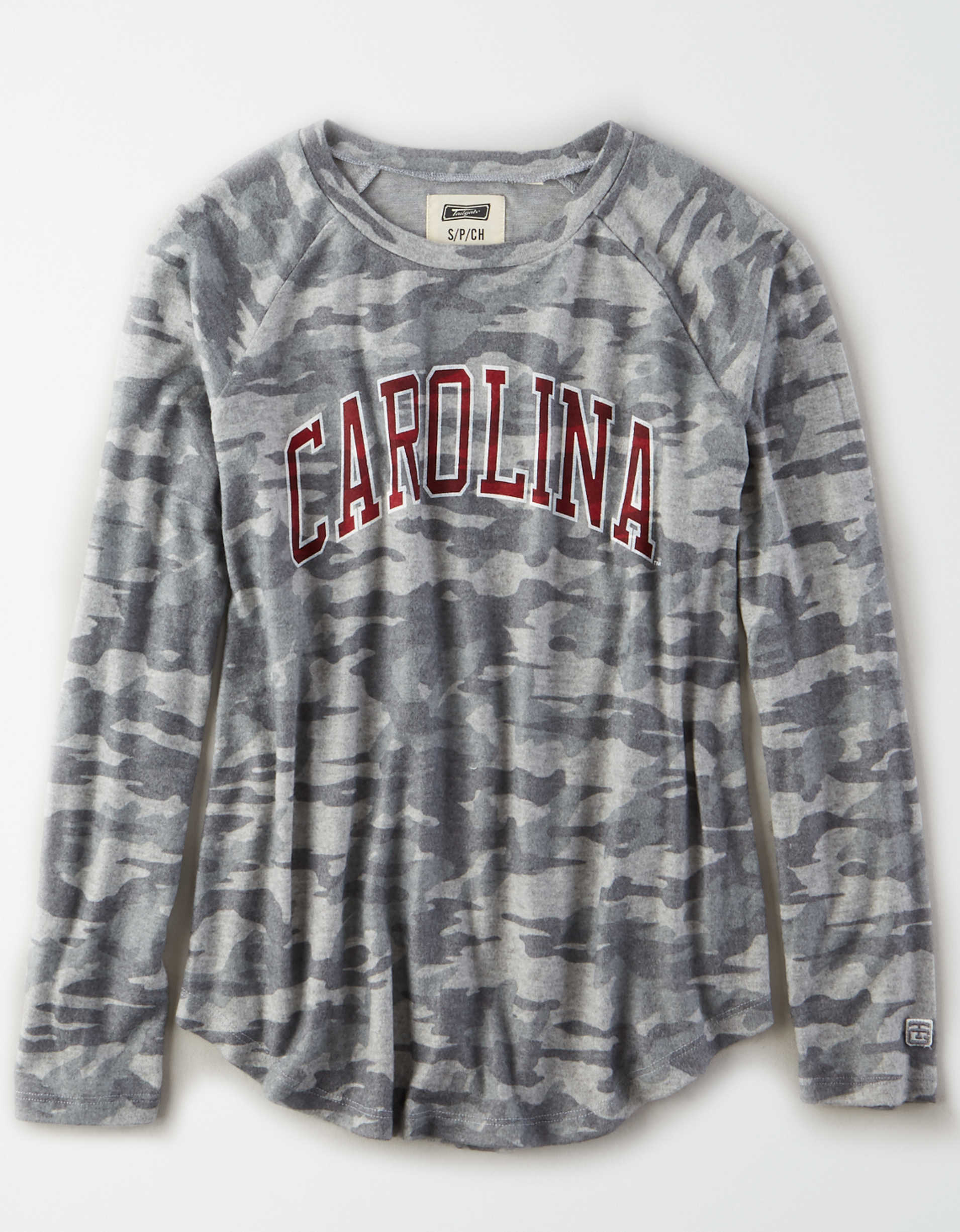 Tailgate Women's South Carolina Gamecocks Plush Camo Shirt