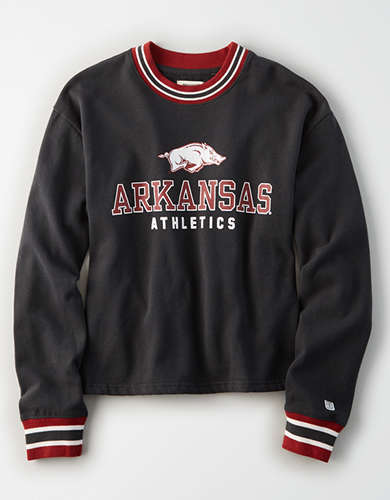 Tailgate Women's Arkansas Razorbacks Tipped Fleece Sweatshirt