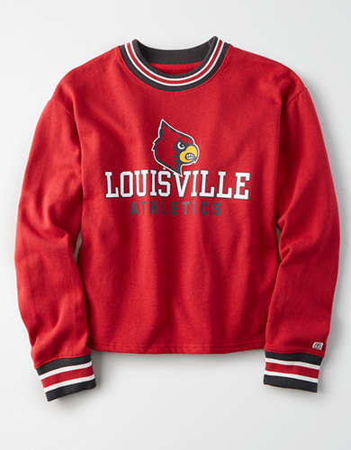 Tailgate Women's Louisville Cardinals Tipped Fleece Sweatshirt