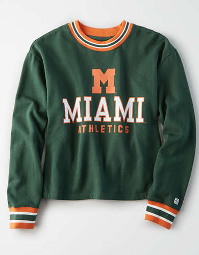 Tailgate Women's Miami Hurricanes Tipped Fleece Sweatshirt