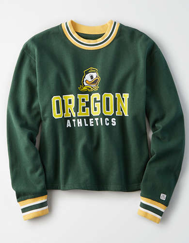 Tailgate Women's Oregon Ducks Tipped Fleece Sweatshirt
