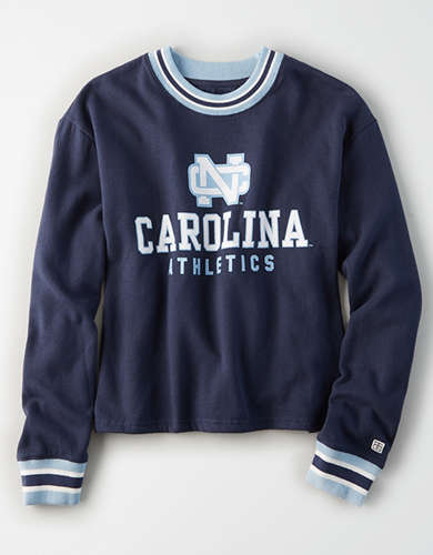 Tailgate Women's UNC Tar Heels Tipped Fleece Sweatshirt
