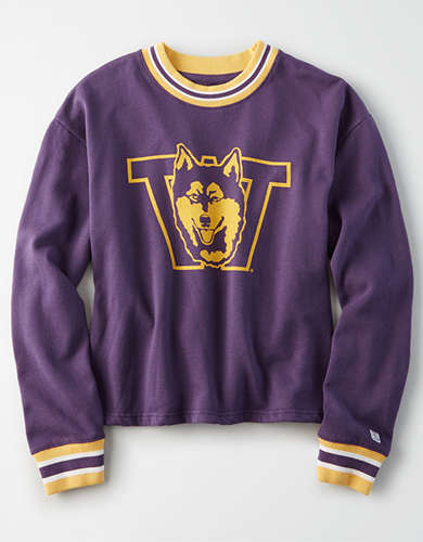 Tailgate Women's Washington Huskies Tipped Fleece Sweatshirt