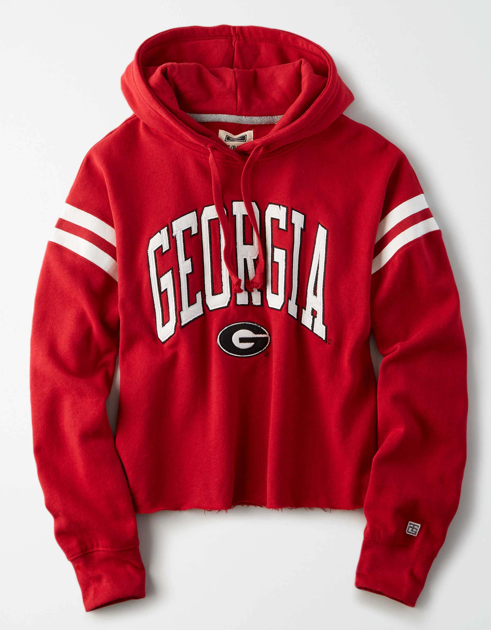 Tailgate Women's Georgia Bulldogs Cropped Fleece Hoodie