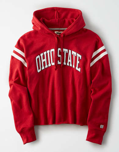 Tailgate Women's Ohio State Cropped Fleece Hoodie