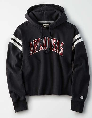 Tailgate Women's Arkansas Cropped Fleece Hoodie