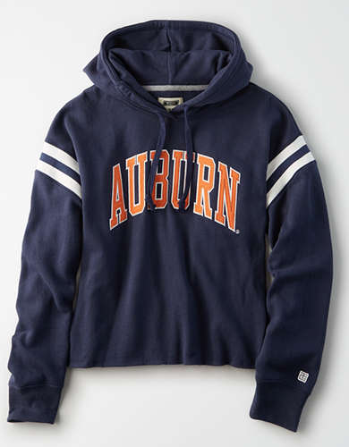 Tailgate Women's Auburn Cropped Fleece Hoodie