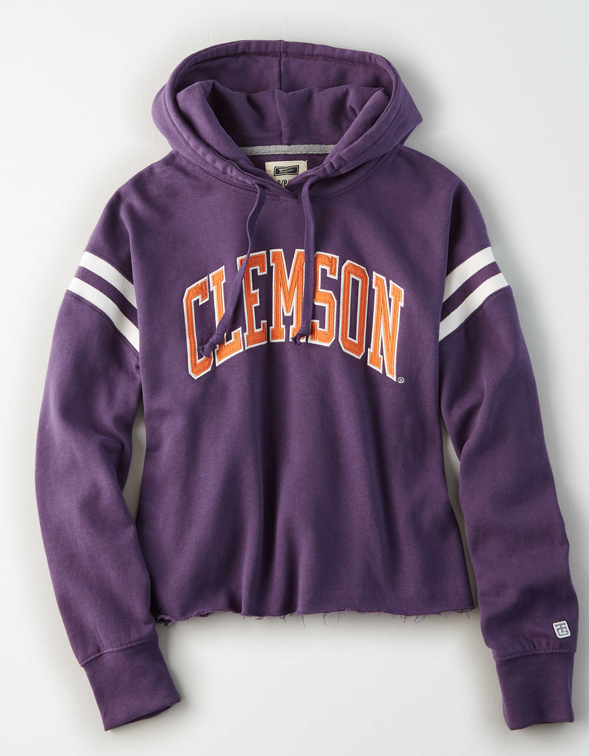 Tailgate Women's Clemson Cropped Fleece Hoodie