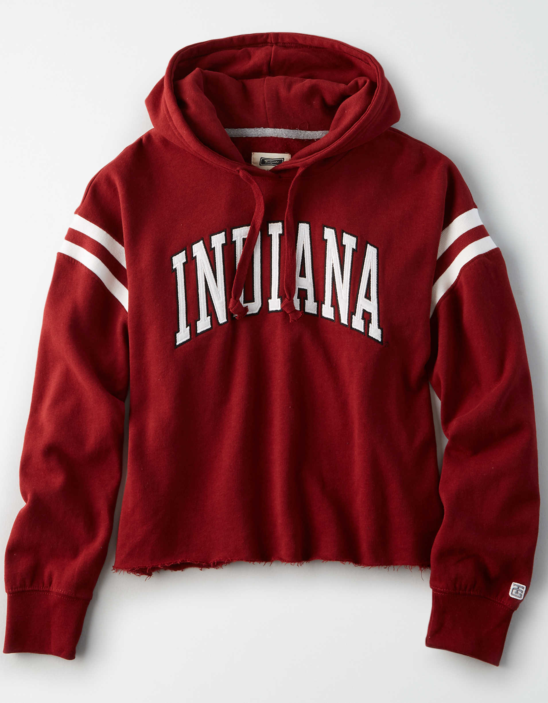 Tailgate Women's Indiana Cropped Fleece Hoodie