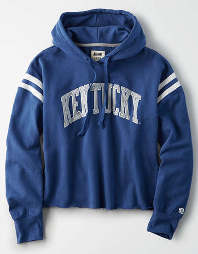 Tailgate Women's Kentucky Cropped Fleece Hoodie