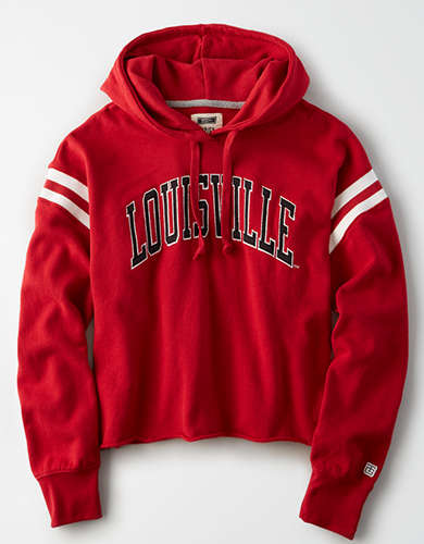 Tailgate Women's Louisville Cropped Fleece Hoodie