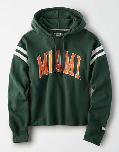 Tailgate Women's Miami Hurricanes Cropped Fleece Hoodie