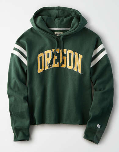 Tailgate Women's Oregon Ducks Cropped Fleece Hoodie