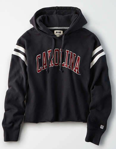 Tailgate Women's South Carolina Cropped Fleece Hoodie