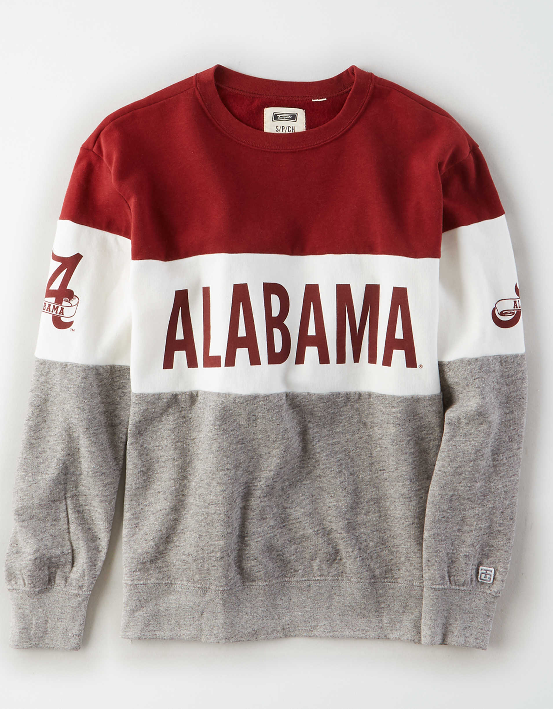 Tailgate Women's Alabama Crimson Tide Colorblock Sweatshirt