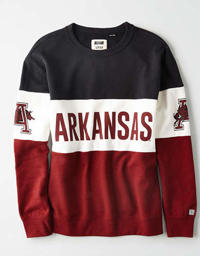 Tailgate Women's Arkansas Razorbacks Colorblock Sweatshirt