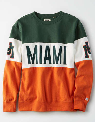 Tailgate Women's Miami Hurricanes Colorblock Sweatshirt