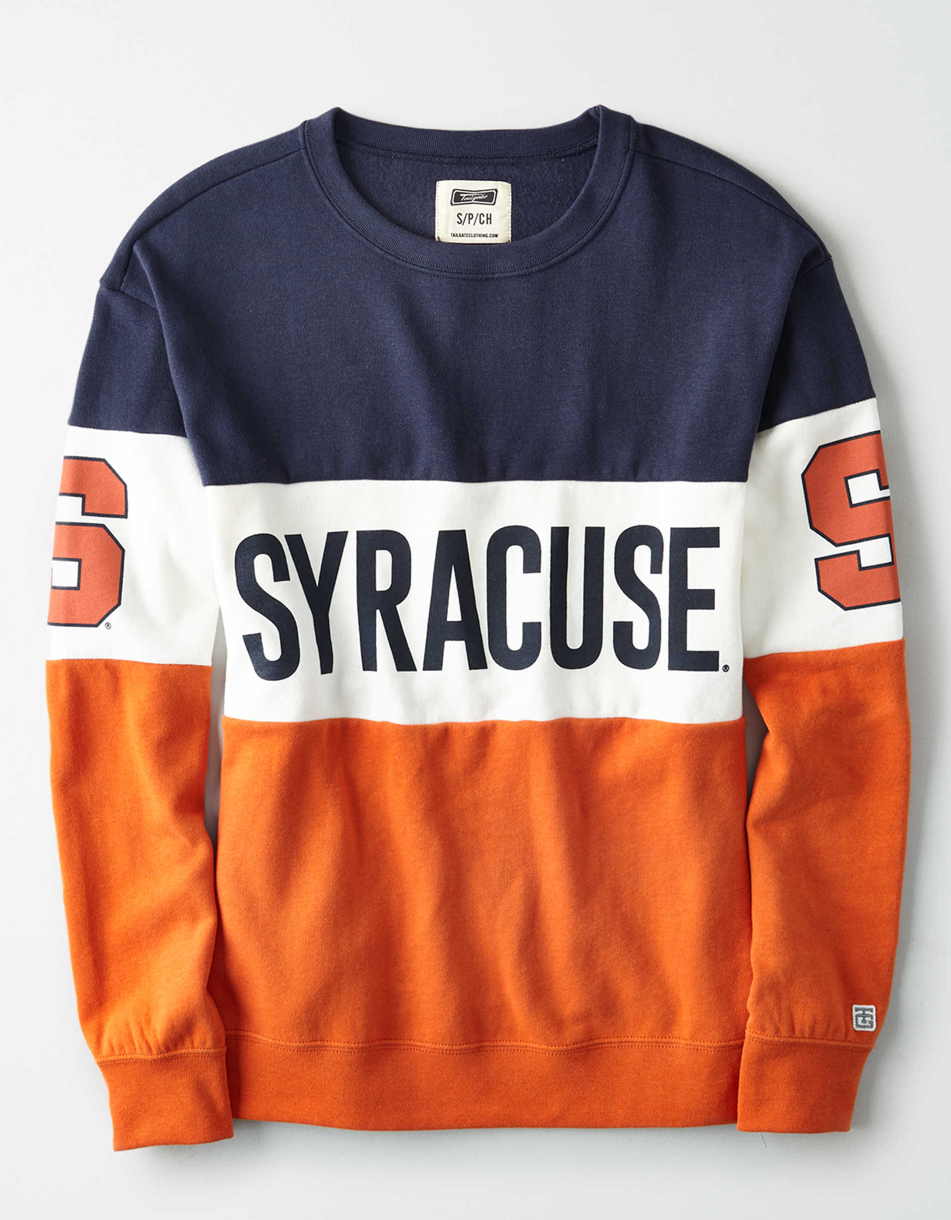 Tailgate Women's Syracuse Orange Colorblock Sweatshirt