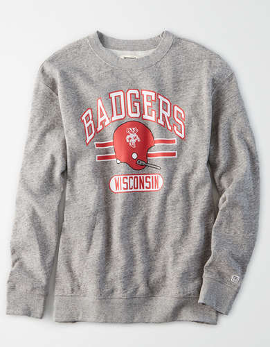 Tailgate Women's Wisconsin Badgers Oversized Fleece Sweatshirt