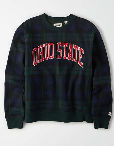 Tailgate Women's OSU Buckeyes Plaid Fleece Sweatshirt
