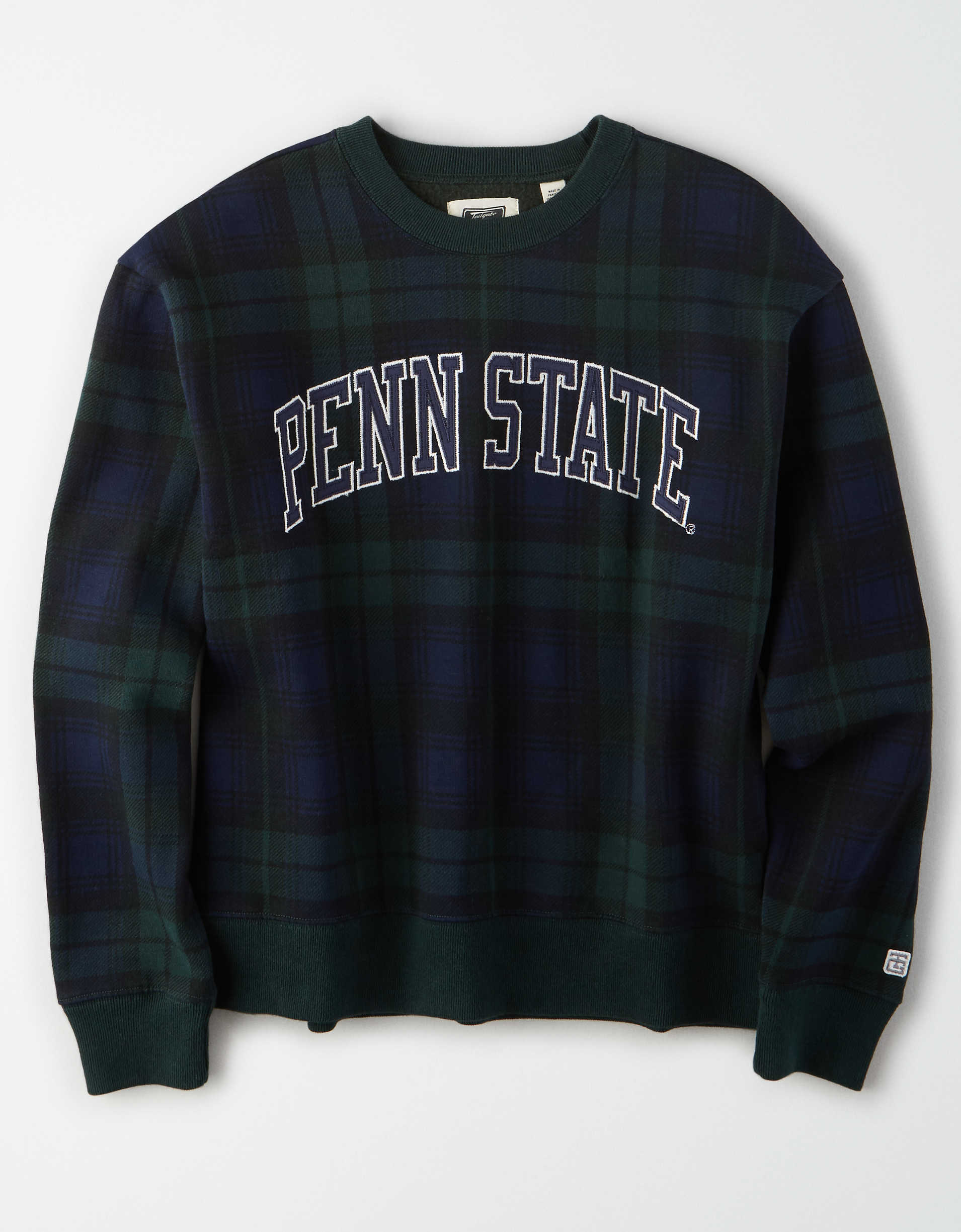 Tailgate Women's Penn State Plaid Fleece Sweatshirt