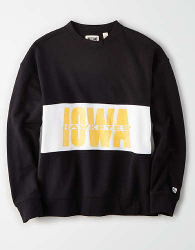 Tailgate Women's Iowa Hawkeyes Colorblock Sweatshirt