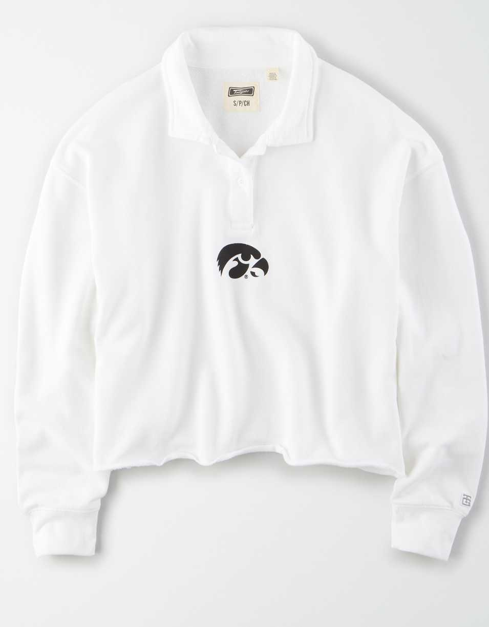 Tailgate Women's Iowa Hawkeyes Cropped Rugby