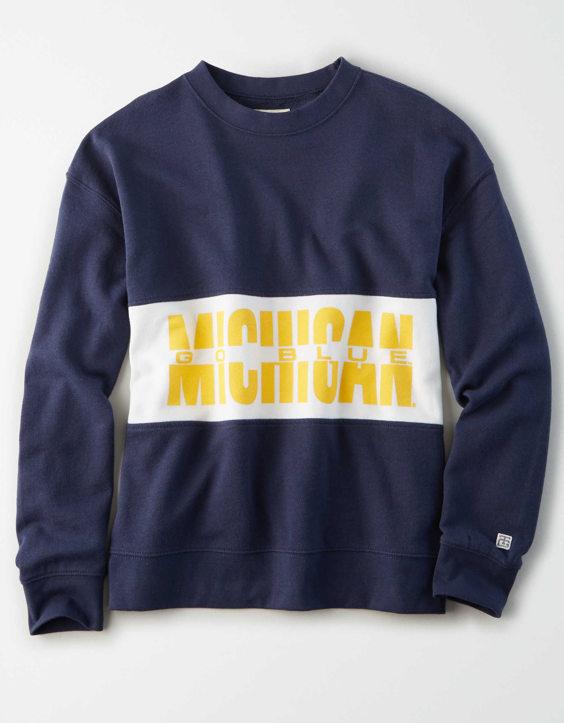 Tailgate Women's Michigan Wolverines Colorblock Sweatshirt
