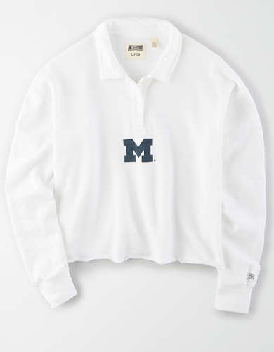 Tailgate Women's Michigan Wolverines Cropped Rugby