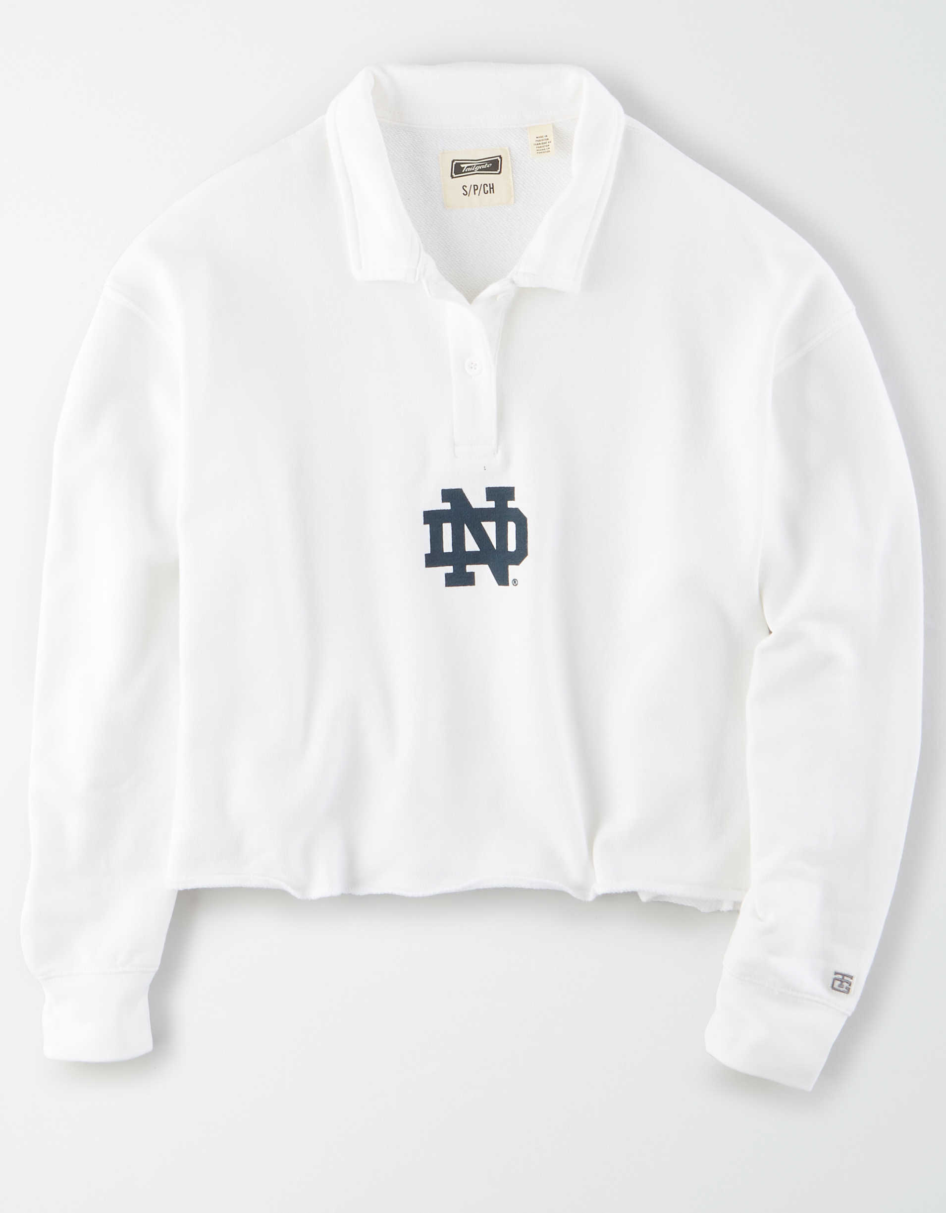 Tailgate Women's Notre Dame Irish Cropped Rugby