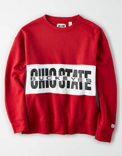 Tailgate Women's Ohio State Buckeyes Colorblock Sweatshirt