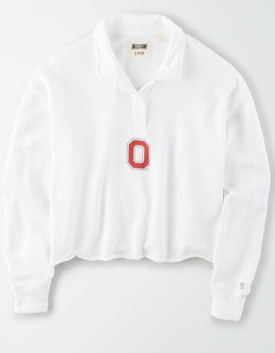 Tailgate Women's Ohio State Buckeyes Cropped Rugby