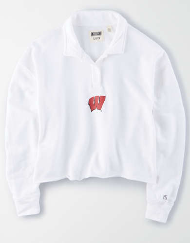 Tailgate Women's Wisconsin Badgers Cropped Rugby