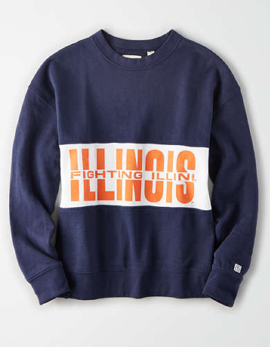 Tailgate Women's Illinois Fighting Illini Colorblock Sweatshirt