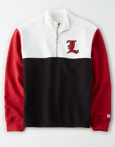 Tailgate Women's Louisville Cardinals Quarter-Zip Sweatshirt