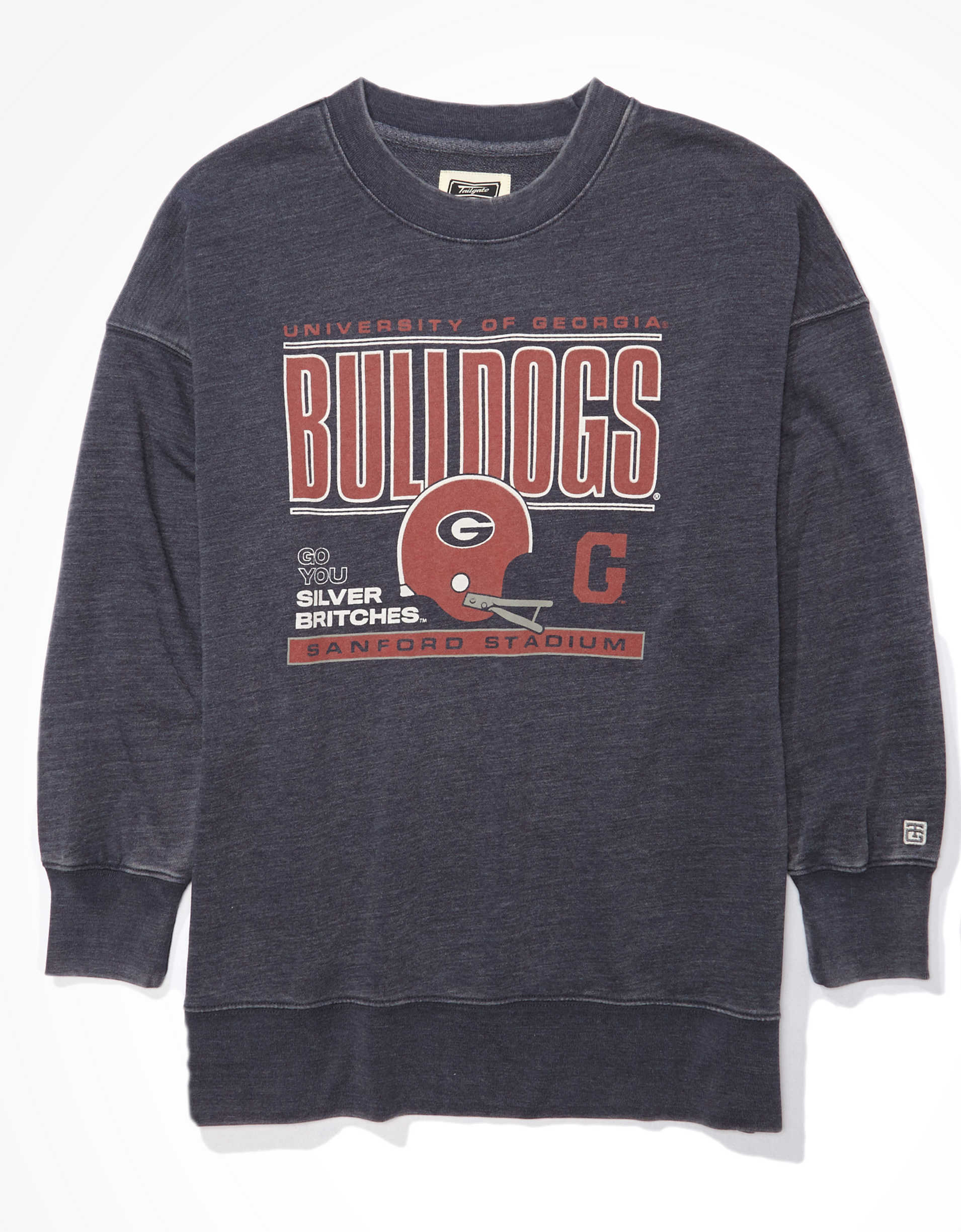 Tailgate Women's Georgia Bulldogs Oversized Sweatshirt
