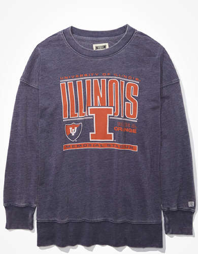 Tailgate Women's Illinois Oversized Sweatshirt