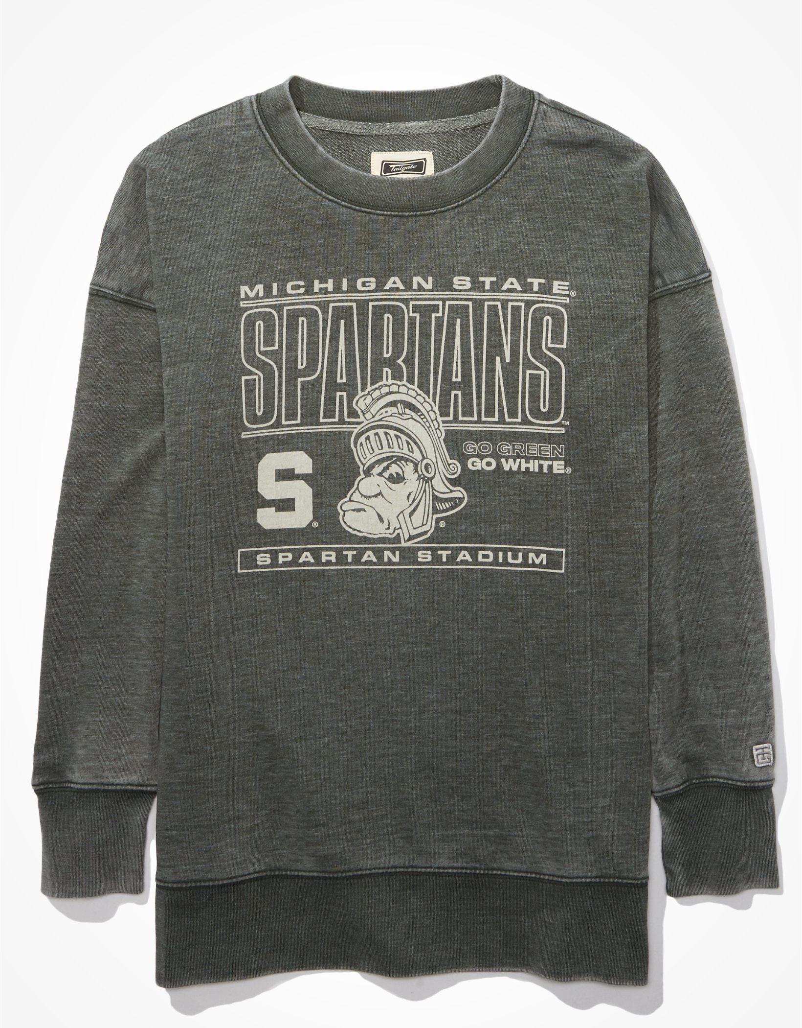 Tailgate Women's MSU Spartans Oversized Sweatshirt