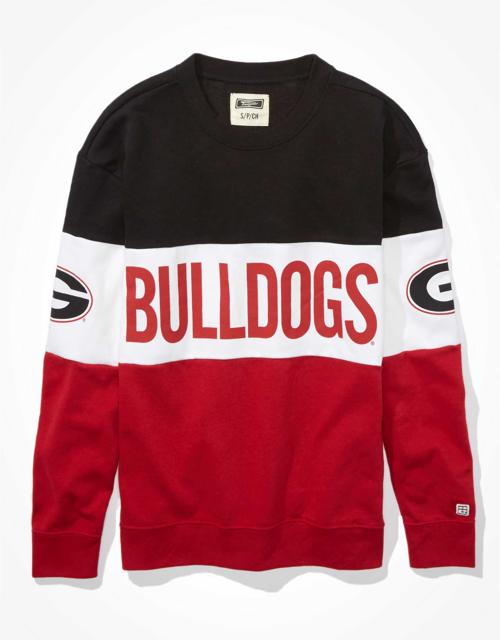 Tailgate Women's Georgia Bulldogs Colorblock Sweatshirt