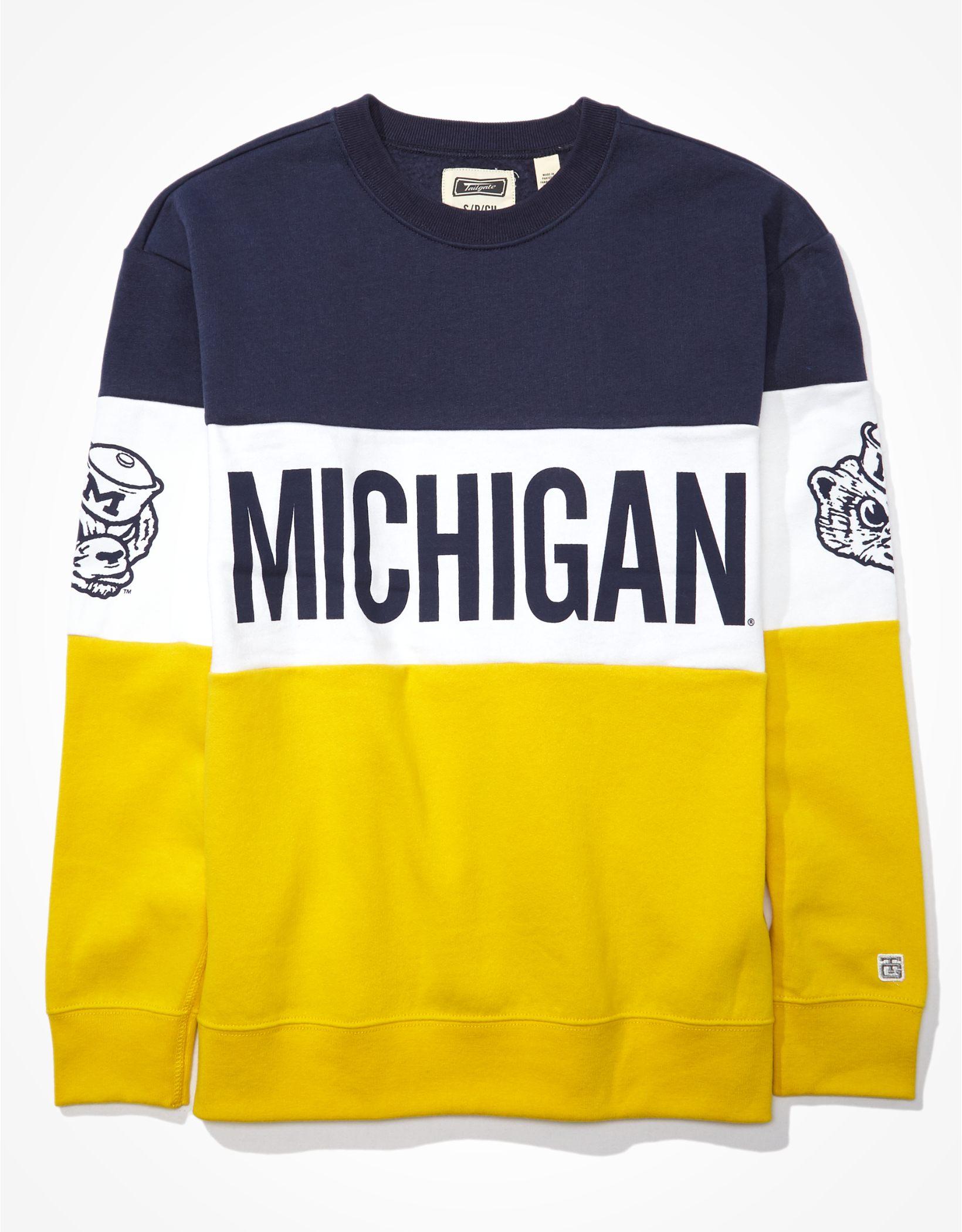 Tailgate Women's Michigan Wolverines Colorblock Sweatshirt