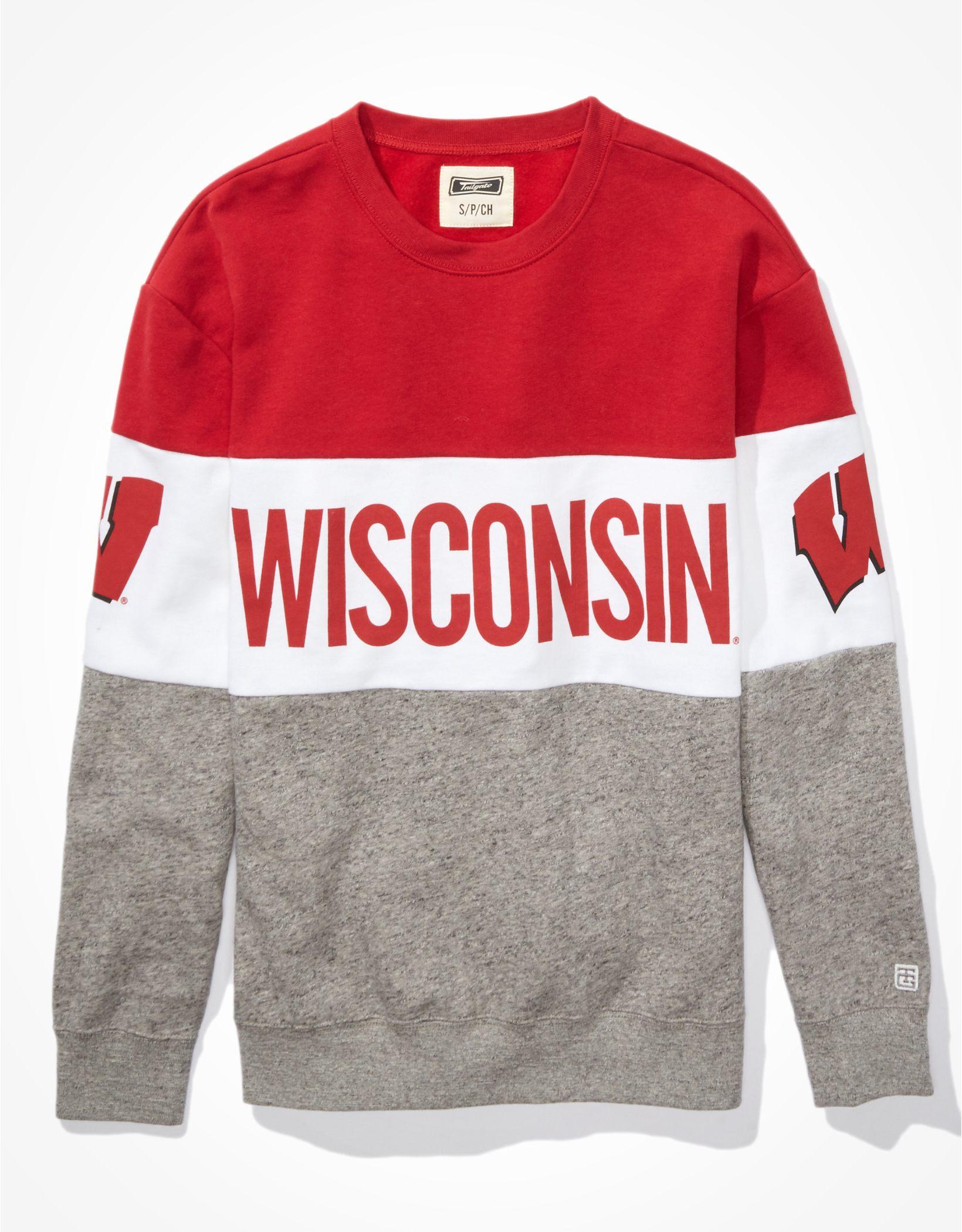 Tailgate Women's Wisconsin Badgers Colorblock Sweatshirt