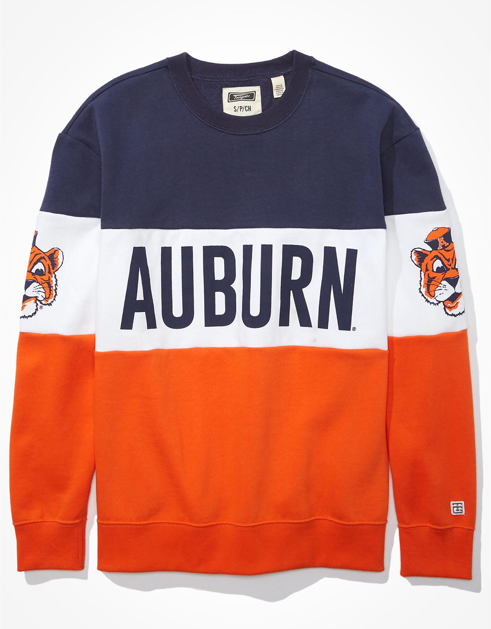 Tailgate Women's Auburn Tigers Colorblock Sweatshirt