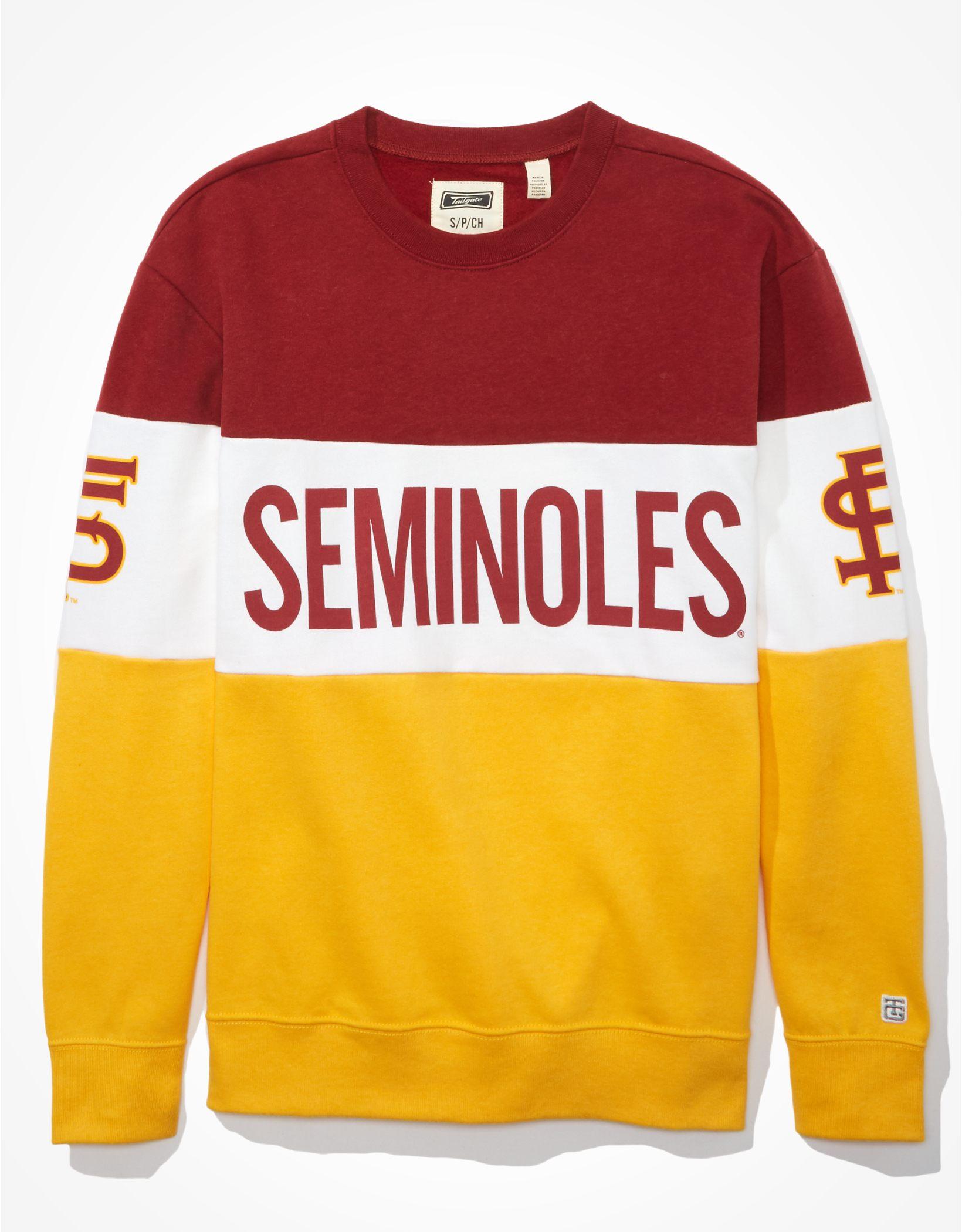 Tailgate Women's FSU Seminoles Colorblock Sweatshirt