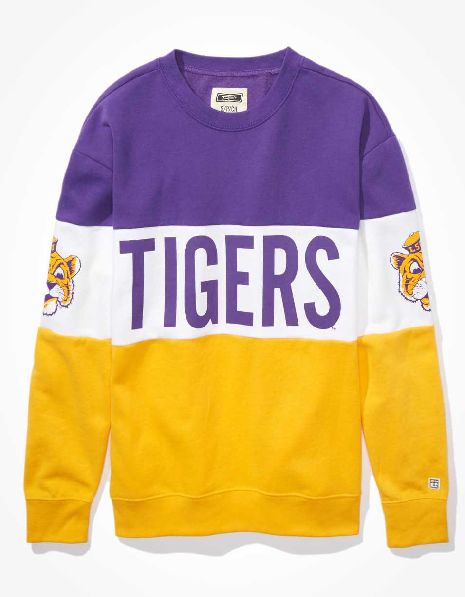 Tailgate Women's LSU Tigers Colorblock Sweatshirt