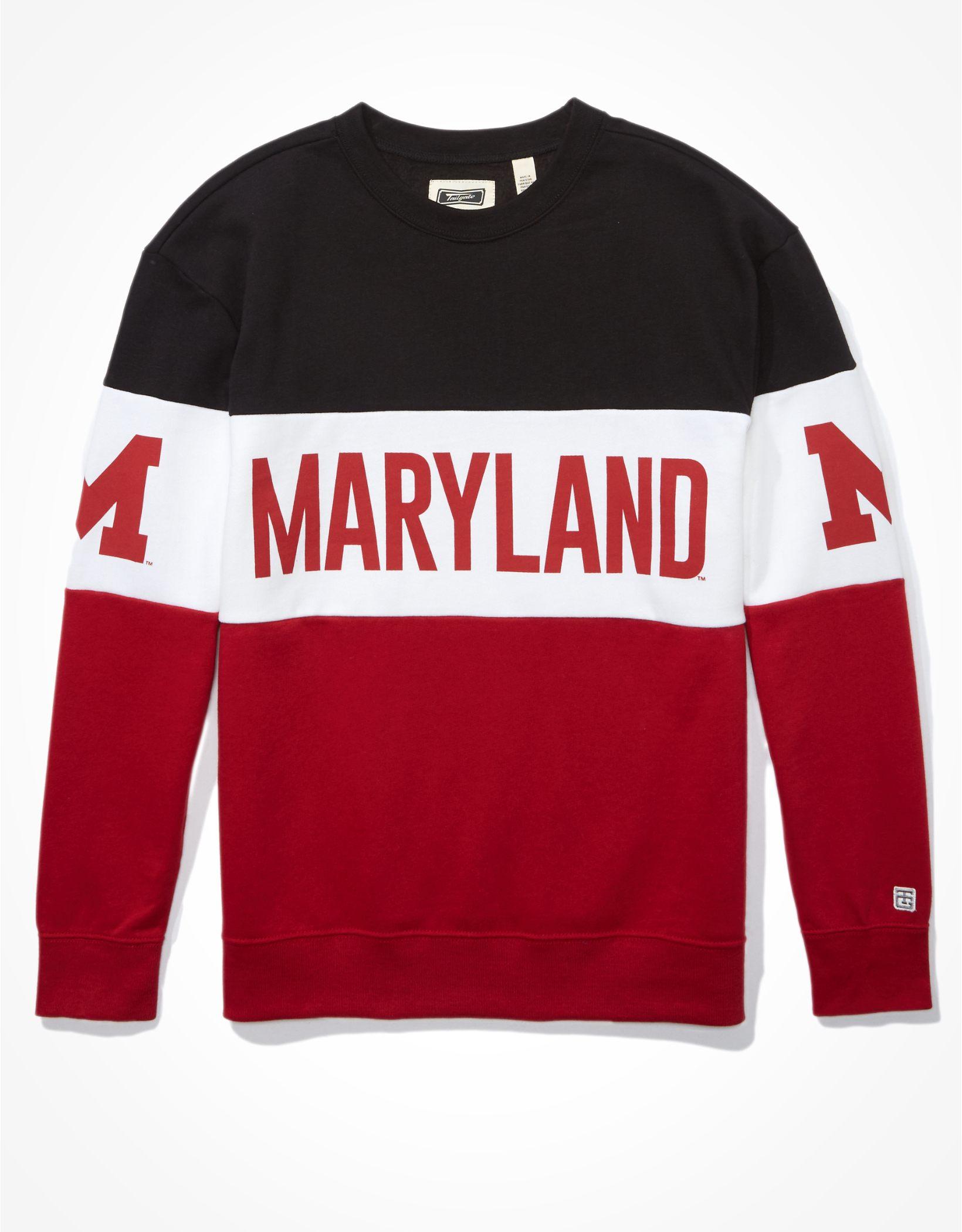 Tailgate Women's Maryland Terrapins Colorblock Sweatshirt