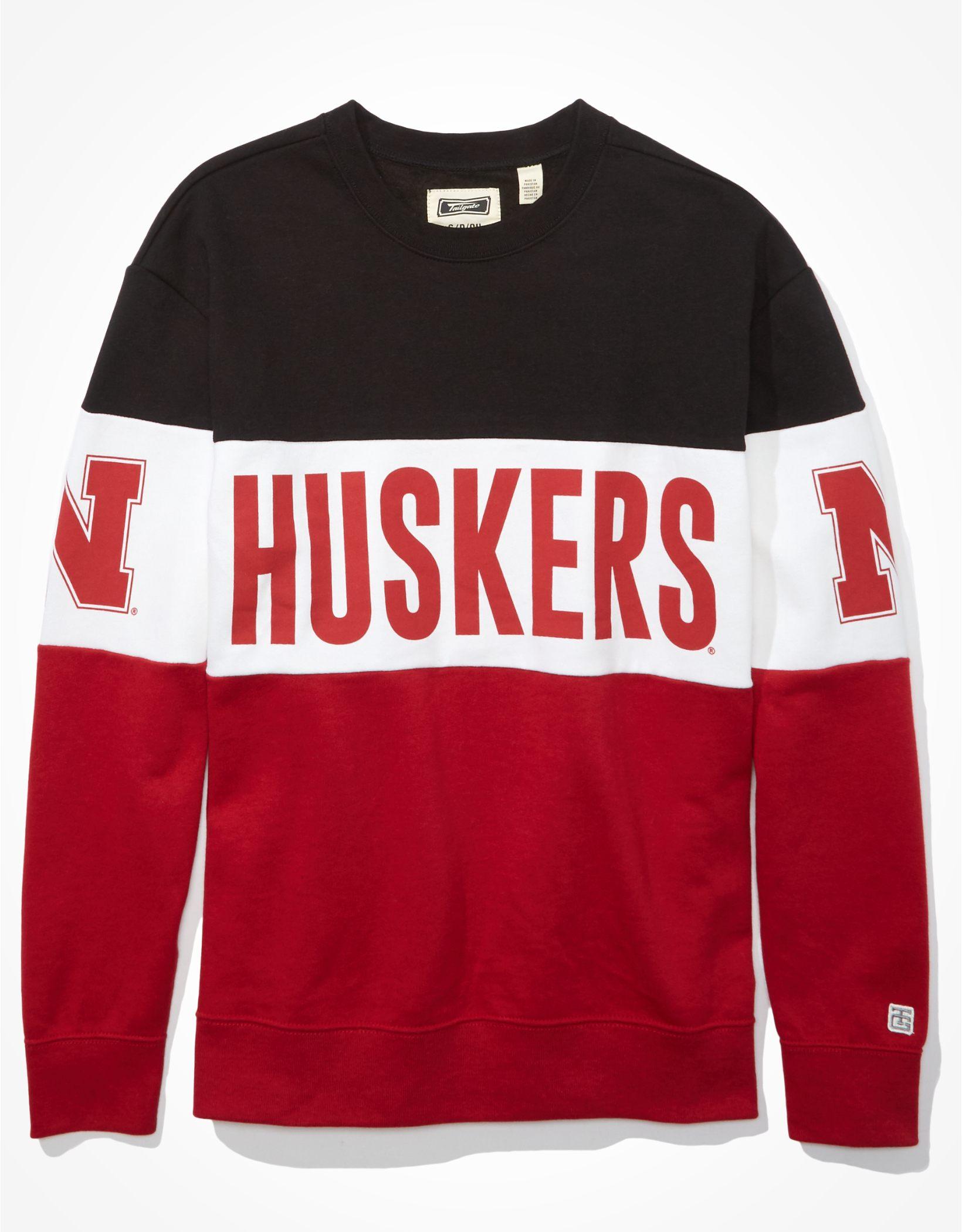 Tailgate Women's Nebraska Cornhuskers Colorblock Sweatshirt