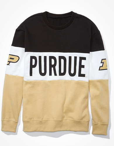 Tailgate Women's Purdue Boilermakers Colorblock Sweatshirt