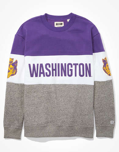 Tailgate Women's Washington Huskies Colorblock Sweatshirt