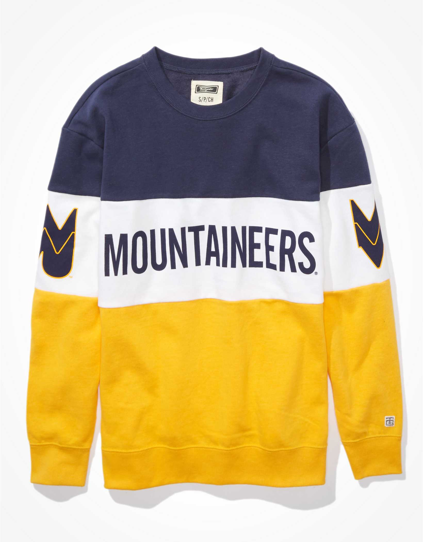 Tailgate Women's WVU Mountaineers Colorblock Sweatshirt