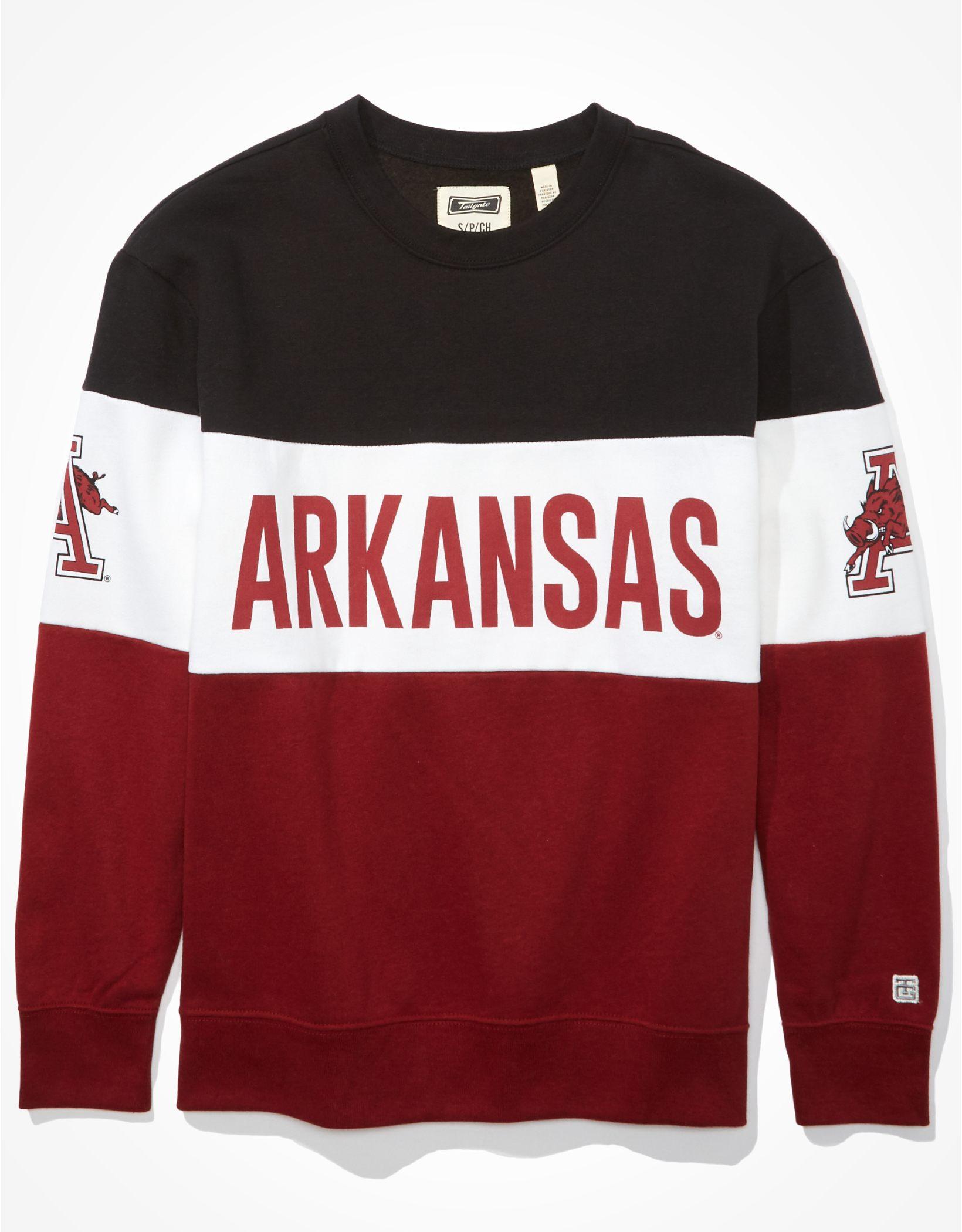 Tailgate Women's Arkansas Razorbacks Colorblock Sweatshirt